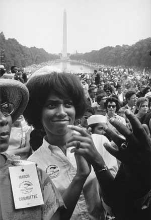Multidão ouviu Martin Luther King fazer seu famoso discurso 'I have a dream' ('Eu tenho um sonho') (Foto: Estate of Leonard Freed/Magnum Photos)