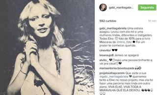 Marília Gabriela sobre Elke Maravilha (Foto: Instagram / Reprodução)