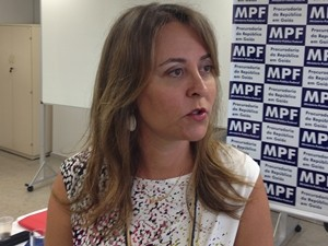 Procuradora Mariane Guimarães - MPF Goiás (Foto: Gabriela Lima/G1)