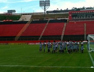 treino do vitória (Foto: Thiago Pereira)