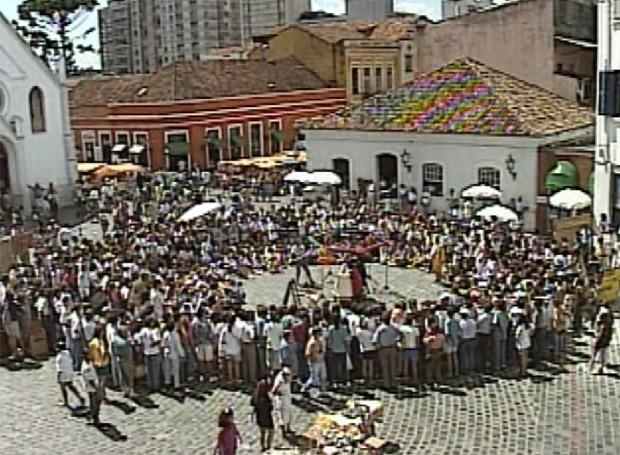 Imagens da 1ª edição do Festival de Teatro de Curitiba (Foto: Reprodução/Painel RPC)