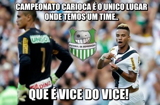 Zoações com o Botafogo e Vasco