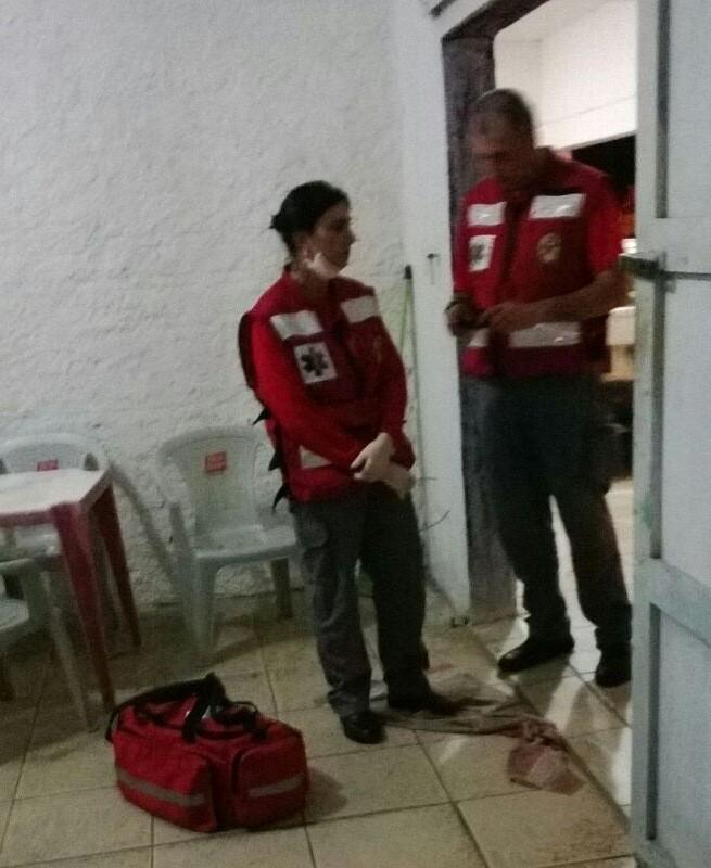 Bmbeiros atenderam ocorrência em um bar de Jaguaruna (Foto: jaguaruna)
