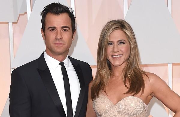 Jennifer Aniston e o marido, Justin Theroux (Foto: Getty Images)