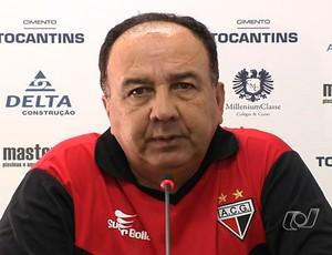 Rômulo Peixoto, médico do Atlético-GO (Foto: Reprodução/TV Anhanguera)