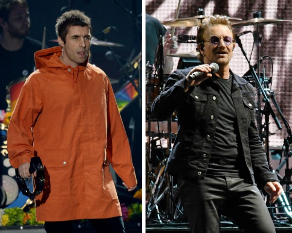 Liam Gallagher e Bono Vox do U2 (Foto: Getty Images)