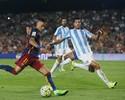 Na volta de Neymar, Barcelona sofre, mas derrota o Málaga no Camp Nou
