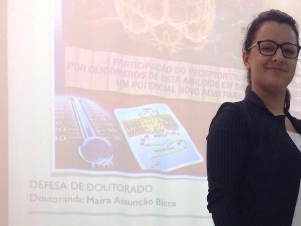 Descoberta foi feita durante pesquisa de doutorado de Maíra (Foto: Maíra Assunção Bicca/Arquivo Pessoal)