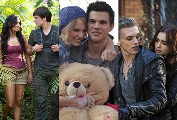 Vanessa Hudgens e Josh Hutcherson, Taylor Lautner e Taylor Swift, Jamie Campbell Bower e Lily Collins (Foto: Divulgação)
