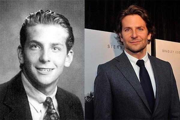Indicado Oscar pela terceira vez consecutiva, Bradl ey Cooper não mudou muito. O que mais faz diferença é a barba que deixa crescer de vez em quando (Foto: Reprodução e Getty Images)
