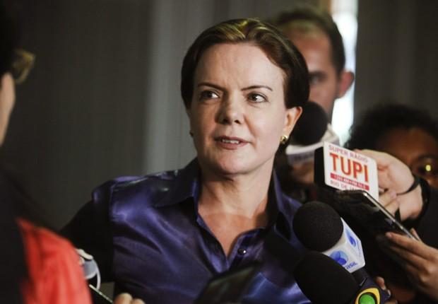 Senadora Gleisi Hoffmann (PT-PR) concede entrevista (Foto: Moreira Mariz/Agência Senado)