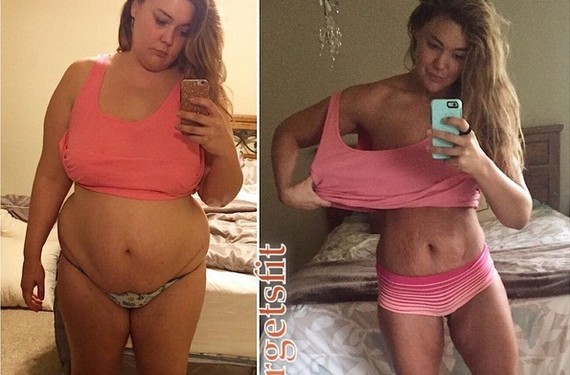 Mulher registra durante um ano perda de 57 kg com selfs diárias (Foto: Reprodução / Instagram)