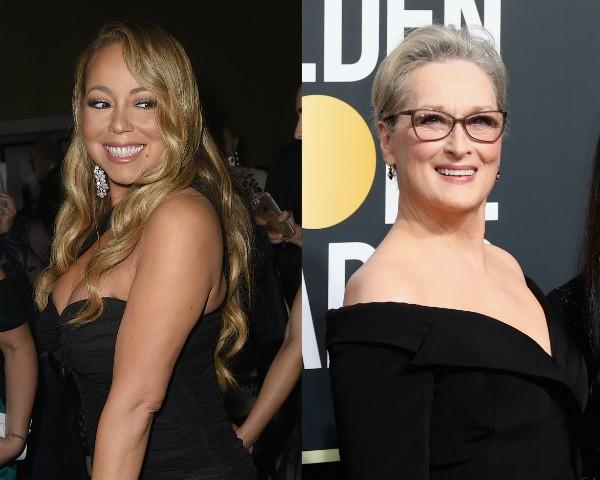 Mariah Carey e Meryl Streep durante o Globo de Ouro 2018 (Foto: Getty Images)