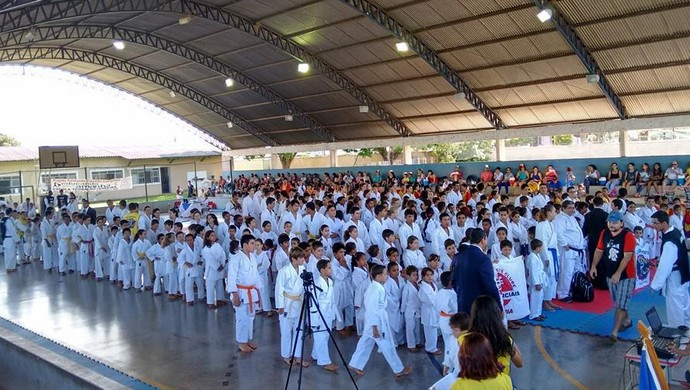 Associação Dragões do Norte foi campeã do 1ª Open de Karatê Goju-Ryu de RO (Foto: Moisés Otávio de Moura/Arquivo Pessoal)