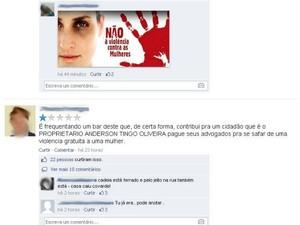 Internautas ameaçam boicote e manifestam contra agressão (Foto: Reprodução/Internet)