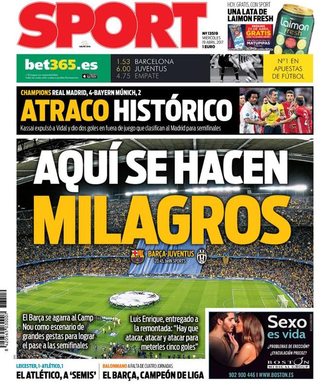 """BLOG: Imprensa catalã cutuca vitória do Real Madrid: """"Assalto histórico"""""""