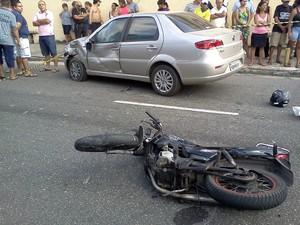 Vítima avançou preferencial sem sinalização (Foto: Luana Gurgel/TV Verdes Mares)