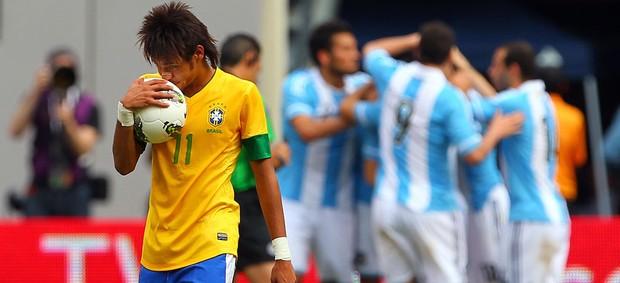 neymar brasil argentina (Foto: Agência Getty Images)