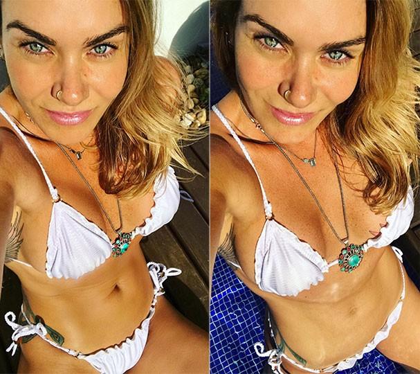 Luize Altenhofen em sequência de fotos em São Paulo (Foto: Reprodução/Instagram)