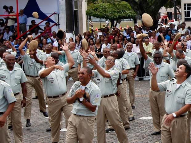 Formaturas de sargentos da PM na Bahia (Foto:  Camila Souza/GOVBA)