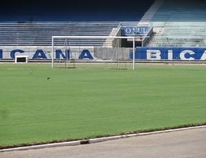 Goleira campo Olímpico (Foto: Tomás Hammes / GLOBOESPORTE.COM)