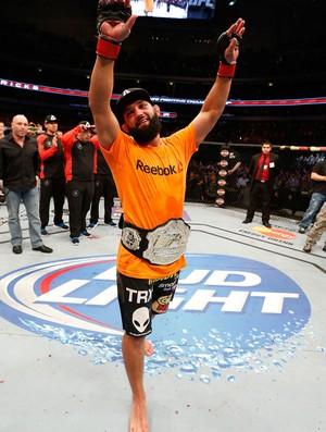 UFC 171 Johny Hendricks cinturão  (Foto: Agência Getty Images)