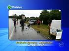 Aquaplanagem faz carro bater na lateral de outro e deixa três feridos