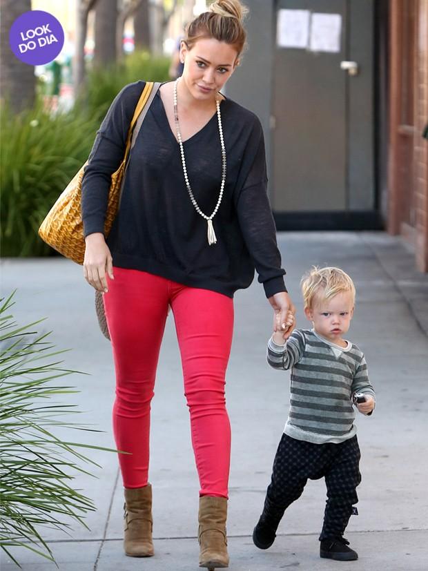 Look do Dia - Hillary Duff (Foto: AKM-GSI BRASil / Splash News)