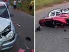 Gari morre em colisão frontal de moto com carro na RN-223