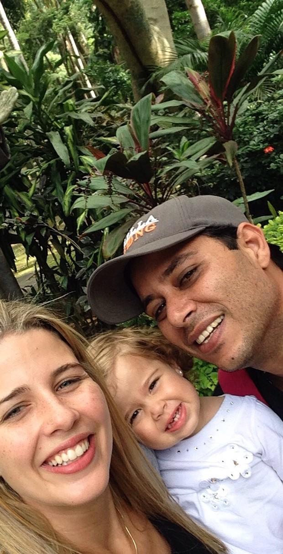 Debby, Maria Eduarda e o marido, Leandro (Foto: Arquivo pessoal)
