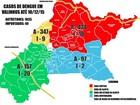 Valinhos elabora mapa da dengue e classifica 17 regiões como 'críticas'