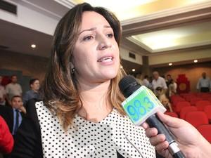 Rejane Dias assumira a Secretaria estadual de Educação (Foto: Gilcilene Araújo/G1)