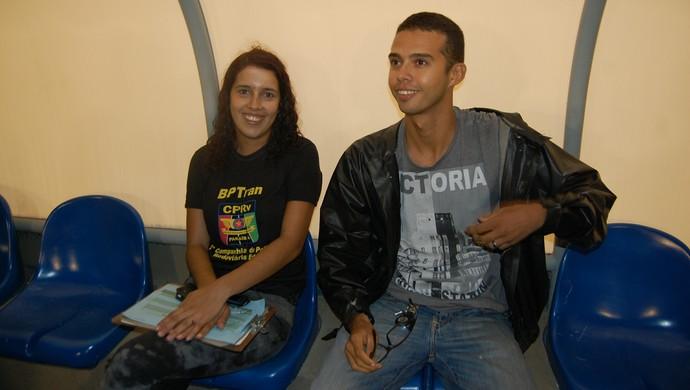 Tradutor jogo Campina Grande (Foto: Silas Batista / GloboEsporte.com)