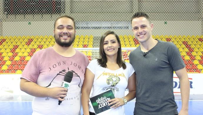 Programa GE TV TEM conta com a participação do fixo Rodrigo Hardy (Foto: Luiz Ferreira/ TV TEM)