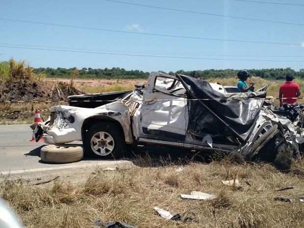 acidente br 101 (Foto: Danilo César/TV Globo)
