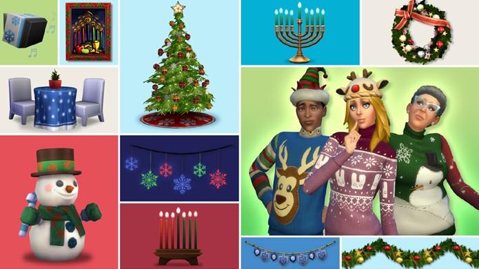 The Sims 4 recebeu atualização para festas de final de ano (Foto: Divulgação)
