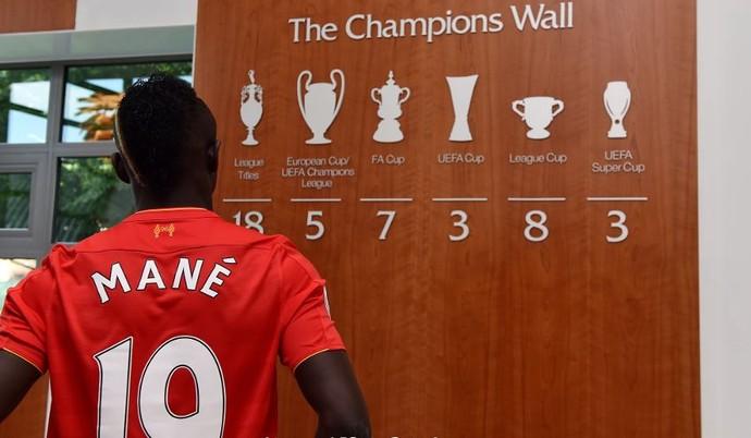 Sadio Mané no Liverpool (Foto: Divulgação / Liverpool)