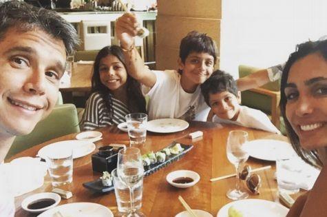 Márcio, Andrea e os filhos (Foto: Reprodução)