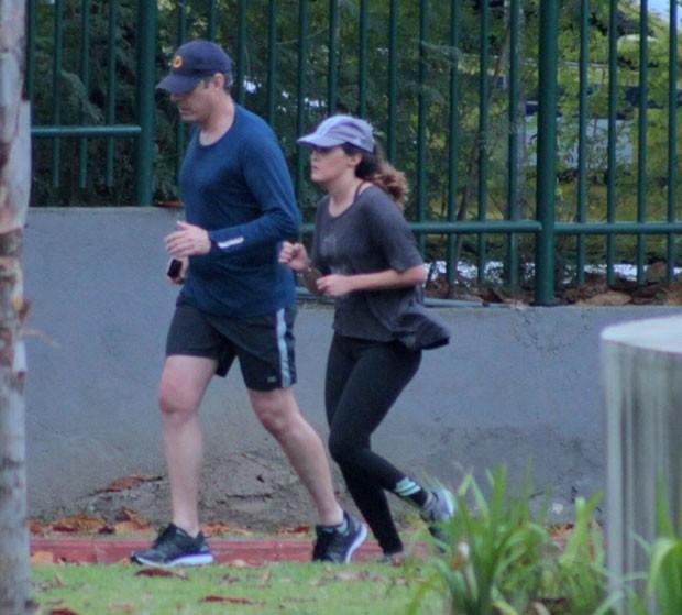 Pai e filha se exercitaram (Foto: AgNews)