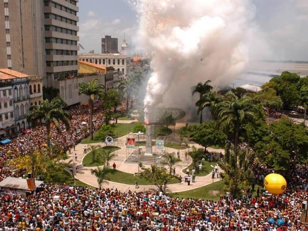 Cirio de Nazaré - queima de fogos dos estivadores. (Foto: Antonio Silva/ O Liberal)