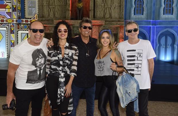Banda Blitz: Juba, Andrea Coutinho, Evandro Mesquita, Nicole Cyrne, Billy Forghieri (Foto: Fabio Cordeiro/ Ed. Globo)