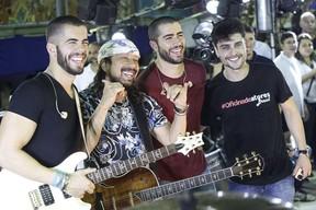 Pipo, Bell e Rafa Marques com Guilherme Leicam (Foto: Fábio Cunha)