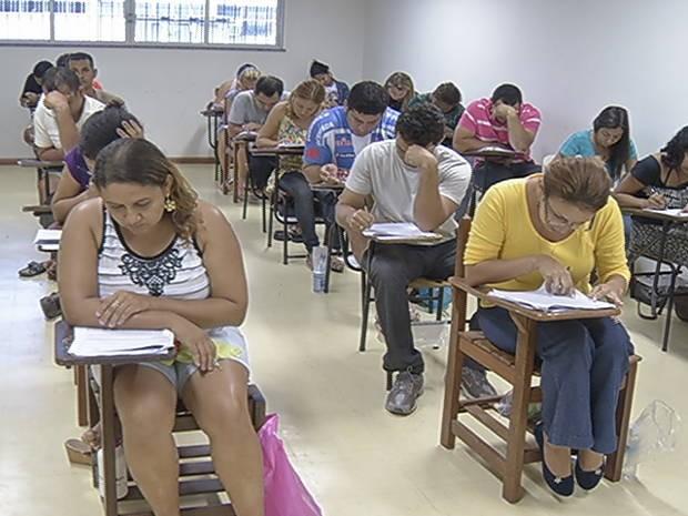 sala de aula - ufpa - processo seletivo 2013 (Foto: Natália Mello/G1)