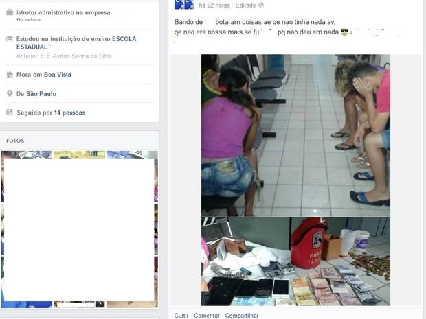 Comentário foi feito no facebook e posteriormente apagado (Foto: Reprodução facebook)