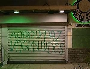 FRAME restaurante Palmeiras quebrado derrota pichado (Foto: Reprodução)