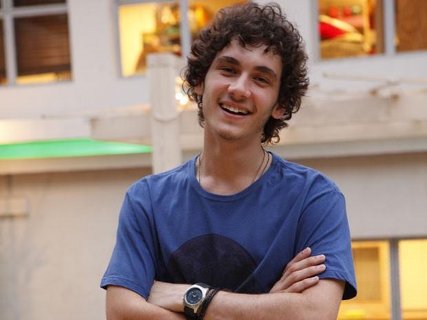 Guilherme Prates acredita que Lia é a grande paixão do personagem (Foto: Malhação / Tv Globo)