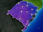 Temperaturas devem cair nesta sexta-feira em todas as regiões do RS