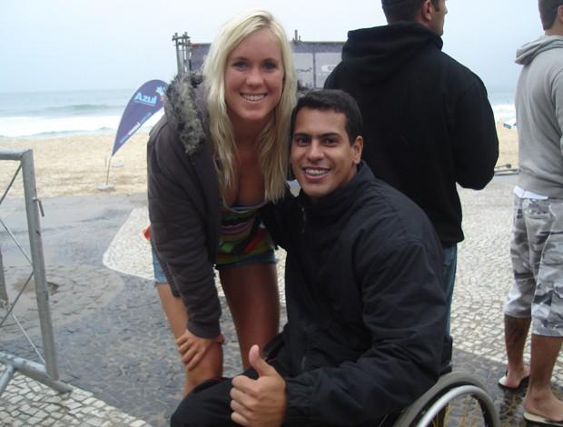Surfe Andrezinho Carioca e Bethany Hamilton (Foto: Arquivo Pessoal)