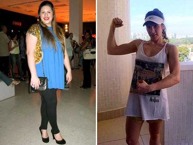 Em um ano, Giovanna Pontes emagreceu 37 kg: mudança de alimentação e exercícios físicos foram essenciais (Foto: Arquivo Pessoal/Giovanna Pontes)