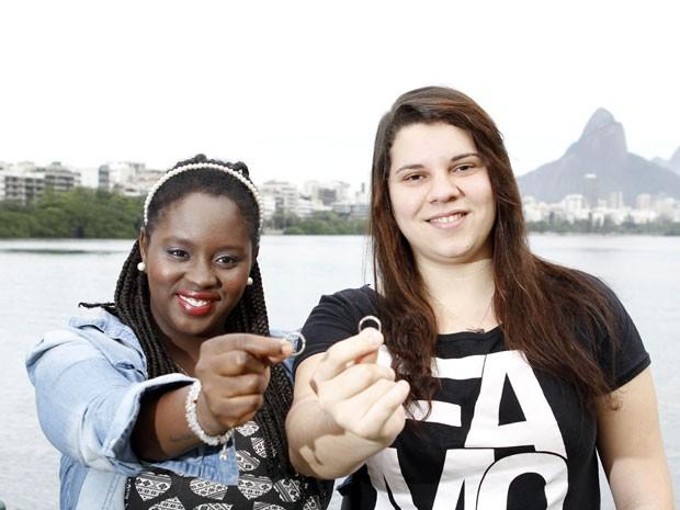 A produtora de eventos Naira Fernandes (à esquerda) e a técnica em informática Mayara Monteiro (Foto: Felipe Hamower/G1)